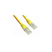 Gembird UTP kat.5e RJ45 patch kábel  0.25m  sárga kábel és adapter