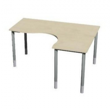 Gemi line irodai asztal sarok, 180/80 x 140/65 x 70-90 cm, jobboldali kivitel, jersey juhar irodabútor