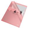 Genotherm, L, A4, 105 mikron, narancsos felület, ESSELTE Standard, piros 25db/csomag