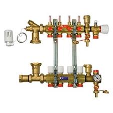 Giacomini R557/11 Szerelt osztó-gyüjtő (kevertköri fűtéshez) hűtés, fűtés szerelvény