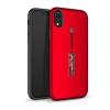 Gigapack Apple iPhone XR műanyag telefonvédő (gumírozott, ujjra húzható szilikon, piros)