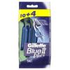 Gillette Blue II Plus Eldobható Férfi Borotva, 10 + 4 db