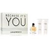 Giorgio Armani Because It's you női parfüm szett (eau de parfum) Edp 50ml + Sg 75ml + Bl 75ml