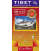Gizi Map Tibet-Bhutan-Nepál domborzati térkép - Gizimap