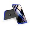 GKK Apple iPhone XR hátlap - GKK 360 Full Protection 3in1 - Logo - fekete/kék