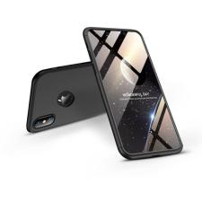 GKK Apple iPhone XS Max hátlap - GKK 360 Full Protection 3in1 - Logo - fekete tok és táska