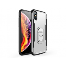 GKK Apple iPhone XS Max hátlap - GKK Armor Full Protection - fekete/ezüst mobiltelefon kellék