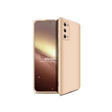 GKK Samsung G980F Galaxy S20 hátlap - GKK 360 Full Protection 3in1 - arany tok és táska