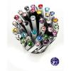 ". Golyóstoll, Crystals from SWAROVSKI®, fekete, 14cm""Elegante"", tanzanite lila kristállyal"