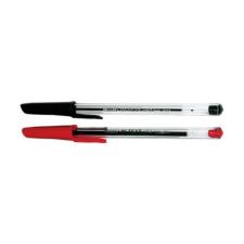 - Golyóstoll eldobható kupakos 0,7mm piros 50/dob toll