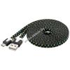Goobay USB kábel 2.0 – micro USB csatlakozóval 2m fekete (textil borítású)