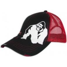 Gorilla Wear Logo Trucker Cap baseball sapka (fekete/piros) (1 db)