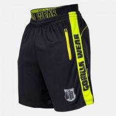 GORILLA WEAR Shelby Shorts - Black/Neon Lime M