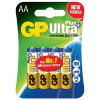 GP BATTERIES GP 15AUP 1,5V AA LR6 Ultra Plus alkáli elem 4db / csomag