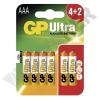 GP BATTERIES LR03 GP24AU-C4+2 Ultra alkáli mikró elem bliszteres