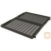 Great Lakes 7206-FR-A-465MM mély fix polc rack szekrénybe, 1U, állítható szerelőfülekkel, fekete