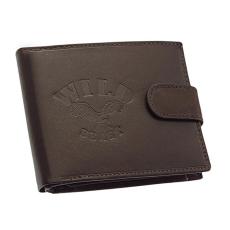 GREEN DEED Wild Best nyomott logós, sötétbarna, patentos nyelvű pénztárca SWS1021/T