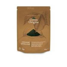Green Origins BIO SPIRULINA por  150 g vitamin