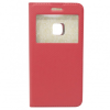 GSMOK Flip Case Magnet View oldalra nyíló Huawei P10 Lite tok, piros