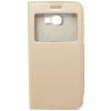 GSMOK Flip Case Magnet View oldalra nyíló Samsung Galaxy A5 (2017) tok, arany