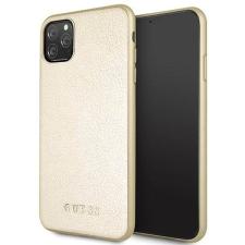 Guess Etui Guess GUHCN65IGLGO iPhone 11 Pro Max arany kemény tok Színjátszó telefontok tok és táska