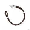 Guess férfi karkötő nemesacél bőr barna UMB21515-S