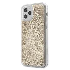 """Guess GUHCP12MLG4GSLG iPhone 12 6,1"""" Max / Pro arany tok 4G Liquid Glitter Guess / GUE000869 telefontok tok és táska"""