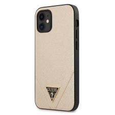 "Guess GUHCP12SVSATMLLG iPhone 12 5,4"" világos arany tok Saffiano Guess / GUE000831 telefontok tok és táska"