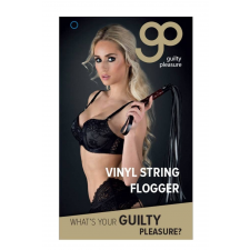 Guilty Pleasure GP VINYL STRING FLOGGER BLACK korbács, paskoló
