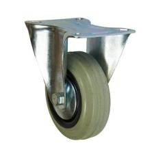 Gumi szállító kerék peremmel, 100 mm-es átmérő, csúszó csapágy teher gumiabroncs