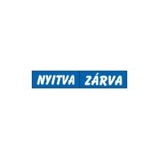 GUNGL DEKOR PIKTOGRAM NYITVA-ZÁRVA (KÉTOLD. TÁBLA) KÉK információs címke