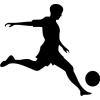 Gungldekor Focista Football 2 db plottervágott autós matrica applikáló fóliával