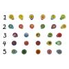 Gungldekor Többféle figurás Gyermek pecsételő nyomdaszett mikrocellás bélyegzők