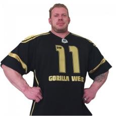 GW ATHLETE T-SHIRT DENNIS WOLF (BLACK/GOLD) [XXXXL]