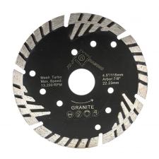 Gyémánt vágótárcsa szinter Gránithoz d125x2.2x8x22.23 mm (fekete) - TLS-DIAMOND barkácsgép tartozék