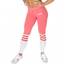 GymBeam Ribbon Pink White női leggings - GymBeam L