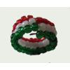 Gyöngy gyűrű (rugóhuzalon) nemzeti színű