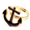 Gyűrű arany-neon fekete
