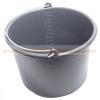 habarcsos vödör; 12 liter,fekete műanyag - 30701M
