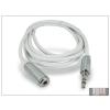 Haffner 3,5 mm sztereó jack hosszabító kábel 150 cm-es vezetékkel - fehér