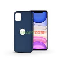 Haffner Apple iPhone 11 szilikon hátlap - Soft Logo - kék tok és táska
