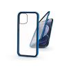 Haffner Apple iPhone 12 Mini mágneses, 2 részes hátlap előlapi üveggel - Magneto 360 - kék