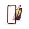 Haffner Apple iPhone 7/iPhone 8/SE 2020 mágneses, 2 részes hátlap előlapi üveggel - Magneto 360 - piros
