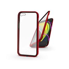 Haffner Apple iPhone 7/iPhone 8/SE 2020 mágneses, 2 részes hátlap előlapi üveggel - Magneto 360 - piros tok és táska