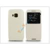 Haffner HTC One M9 S-View Flexi oldalra nyíló flipes tok - fehér