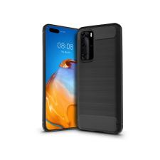 Haffner Huawei P40 szilikon hátlap - Carbon - fekete tok és táska