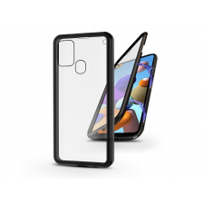 Haffner Samsung A217F Galaxy A21s mágneses, 2 részes hátlap előlapi üveggel - Magneto 360 - fekete tok és táska