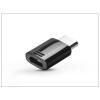 Haffner Samsung gyári micro USB - USB Type-C adapter - GH98-40218A - black