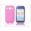 Haffner Samsung i8260 Galaxy Core szilikon hátlap - S-Line - pink