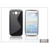 Haffner Samsung i9150 Galaxy Mega 5.8 szilikon hátlap - S-Line - fekete